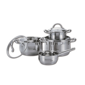 Bergner Gourmet Stainless Steel Induction Cookware Set 7pcs