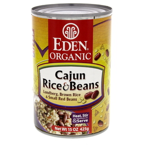 Eden Organic Cajun Brown Rice And Beans 425g