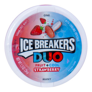 Ice Breakers Duo Fruit + Cool Strawberry Mint Sugar Free 36g