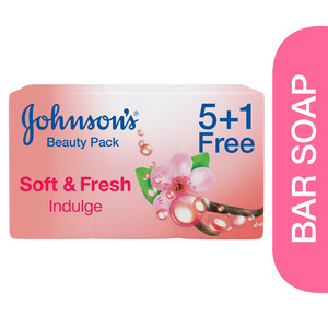 Johnson's Bath Soap Soft & Fresh Indulge 6 x 125g