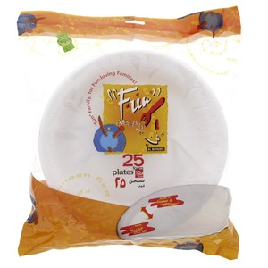 Fun Foam Plates 10inch 25pcs