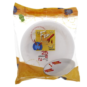 Fun Disposable Foam Plate 9inch 25pcs
