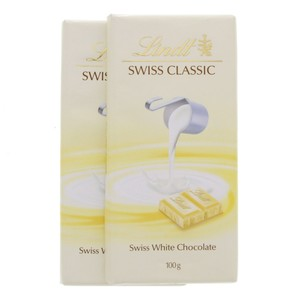 Lindt Swiss Classic White Chocolate 100g x 2pcs