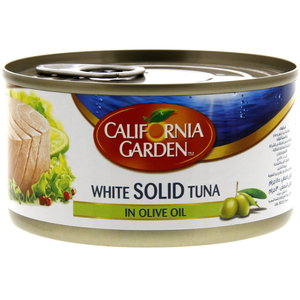California Garden Canned White Tuna Solid In Olive Oil 185g