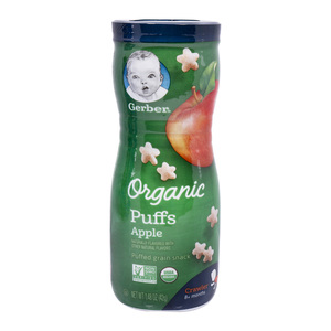 Gerber Organic Puffed Grain Snack Apple 42g