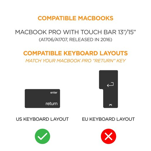 Trands Ultra-Thin Keyboard Silicone Skin Cover Compatible with 15.6 Inches Laptops Notebooks Netbooks KP57