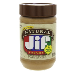 Jif Natural Creamy Peanut Butter Spread Low Sodium 454g