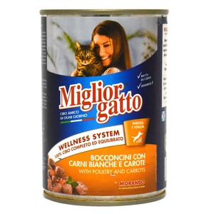 Miglior Gatto Cat Food With Poultry and Carrots 405g