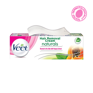 Veet Hair Removal Cream Naturals Normal & Dry Skin with Papaya Extract 100g