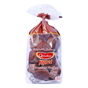 Qbake Mini Chocolate Muffin 195g