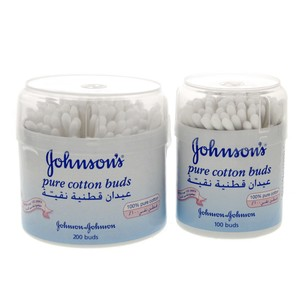 Johnsons Pure Cotton Buds 200pcs + 100pcs