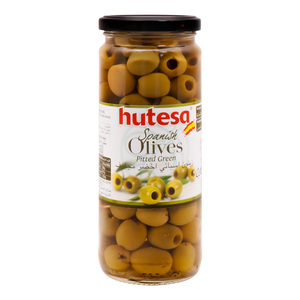 Hutesa Spanish Pitted Green Olives 212g