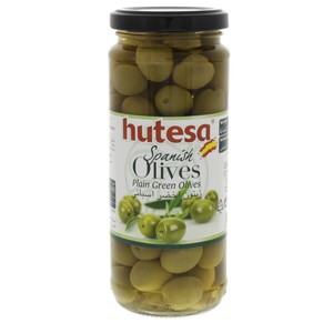 Hutesa Spanish Plain Green Olives 200g