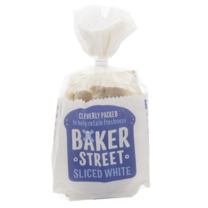 Baker Street Medium White Sliced Bread 550g