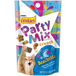 Purina Friskies Party Mix Cat Treats Beachside Crunch 60 Gm