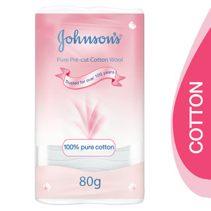 Johnson's Baby Pure Pre-cut Cotton Wool 80g