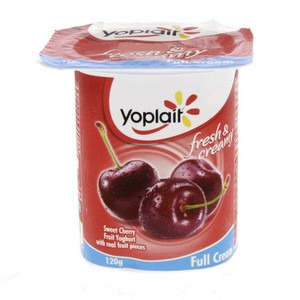 Yoplait Sweet Cherry Fruit Yoghurt Full Cream 120g