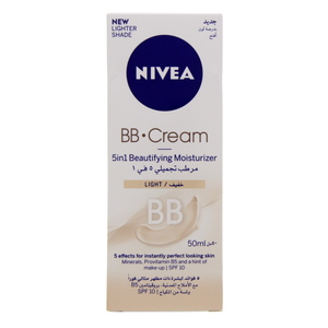 Nivea BB Cream 5 In 1 Beautifying Moisturizer SPF 10 Light 50ml