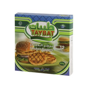 Taybat Chicken Burger 12pcs 600g