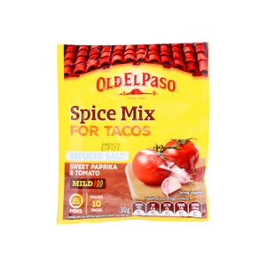 Old El Paso Taco Spice Mix Mild Reduced Salt 30g