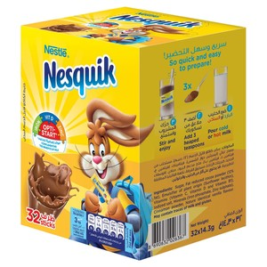 Nestle Nesquik Chocolate Milk Powder 32 x 14.3g