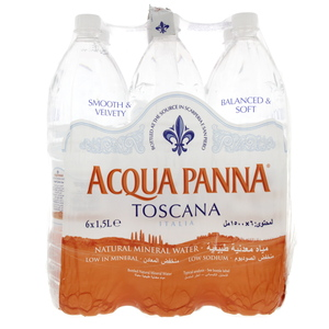 Acqua Panna Toscana Bottled Natural Mineral Water 1.5Litre