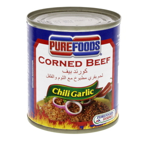 Pure Foods Corned Beef Chili Garlic 210g