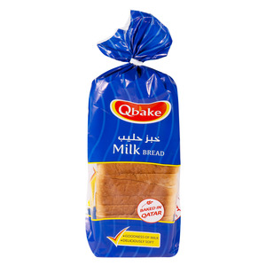 Qbake Milk Bread Medium 1pkt