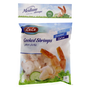 Lulu Cooked Medium Shrimps 500g