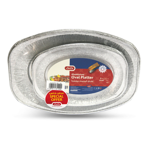 Lulu Aluminium Oval Platter Medium 5pcs + Small 5pcs