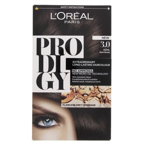 L'Oreal Prodigy Hair Color Dark Brown 3.0 1 Packet