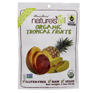 Natures All Organic Tropical Fruits Freeze & Dried 42.5 Gm