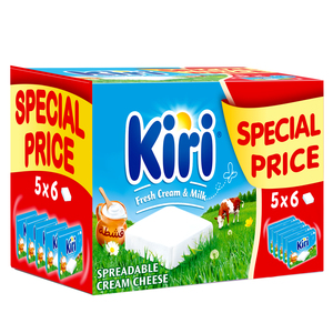 Kiri Spreadable Cream Cheese Squares 30 Portions 540g