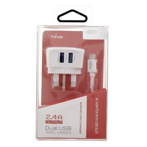 Trands Dual USB Micro Charger TR-PC132