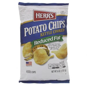 Herr's Potato Chips Kettle Cooked Reduced Fat 170.1g