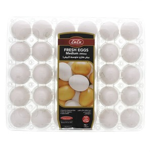 Lulu White Eggs Medium 30Pcs