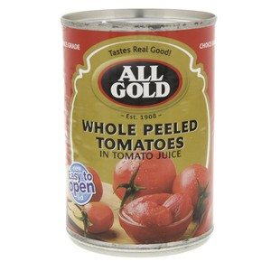 All Gold Whole Peeled Tomatoes In Tomato Juice 400g