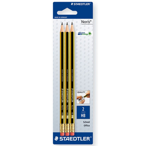 Staedtler Noris HB2 Pencil 122-2BK3DA 3Piece