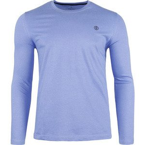 John Louis Men's Round-Neck T-Shirt Long Sleeve Sky Blue