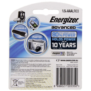 Energizer Advanced +Power Boost AAA Battery  X92RP6