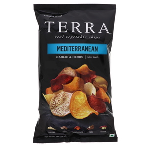 Terra Vegetable Chips Sea Salt Mediterranean Garlic & Herb 141g