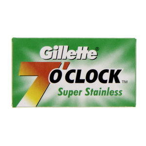 Gillette 7 o'clock Blade Super Stainless  5pcs