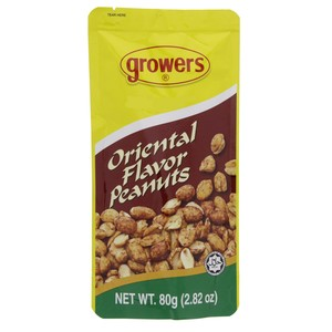 Growers Oriental Flavor Peanuts 80g