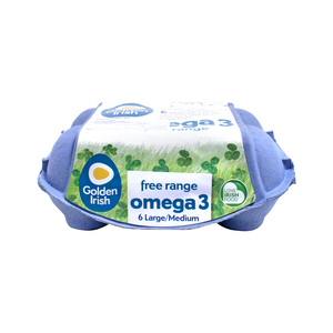 Golden Irish Omega 3 Free Range Eggs Large/Medium 6pcs