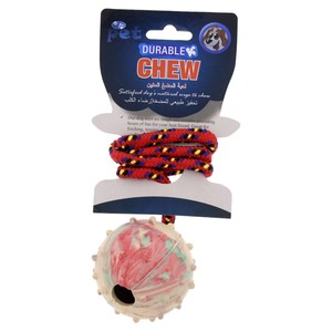Pet Zone Dog Rubber Toy For Dog Assorted 1pc