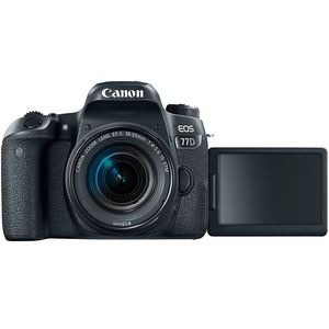 Canon DSLR Camera EOS-77D + 18-55mm IS Black