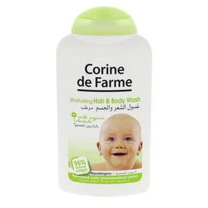 Clorine De Farme Moisturising Hair & Body Wash 250ml