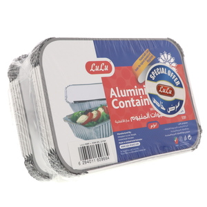 Lulu Aluminium Containers With Lids 2 x 10pcs