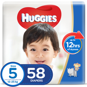 Huggies SuperFlex Diapers Size 5, Junior 12-25kg 58pcs