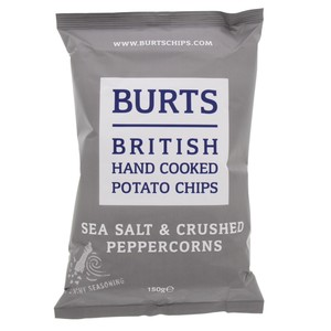 Burts Hand Cooked Potato Chips Sea Salt & Crushed Peppercorns 150g